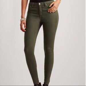 Olive Green High Waisted Aeropostale Jeggings